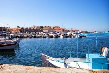 Chania havn på Kreta